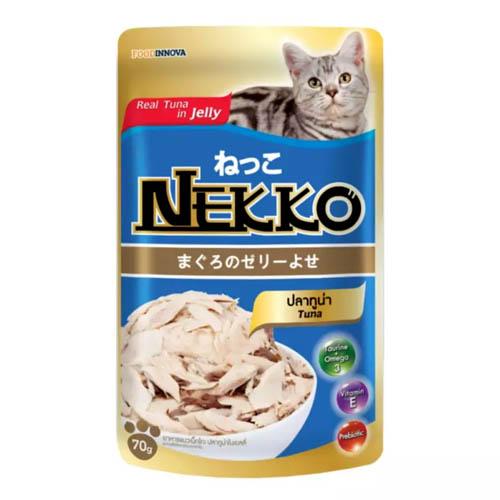 อาหารแมวแบบเปียก Nekko Tuna สูตรปลาทูน่าในเยลลี่